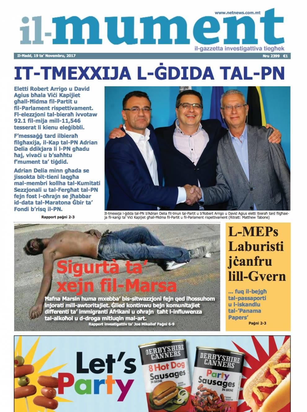 Il Faċċata Tal Lum Tal Gazzetta Il Mument Netnews