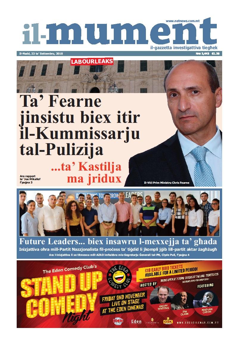 Il ħarġa Ta Il Mument Illum Netnews